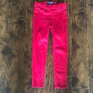 Old Navy red ballerina jeggings.  Size small 6/7
